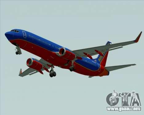 Boeing 737-800 Southwest Airlines para visión interna GTA San Andreas