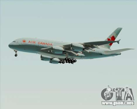 Airbus A380-800 Air Canada para la vista superior GTA San Andreas