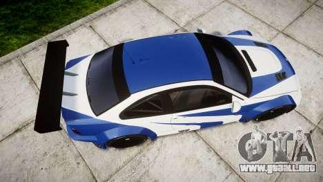 BMW M3 E46 GTR Most Wanted plate Liberty City para GTA 4 visión correcta