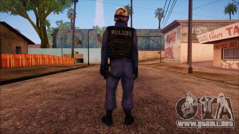 GSG9 from Counter Strike Condition Zero para GTA San Andreas segunda pantalla