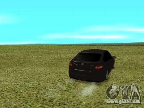 Lada Granta Kalina 2 para GTA San Andreas vista posterior izquierda