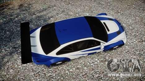 BMW M3 E46 GTR Most Wanted plate NFS para GTA 4 visión correcta