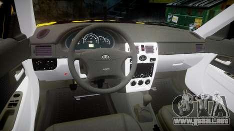VAZ-Lada 2170 Priora de hobo para GTA 4 vista interior
