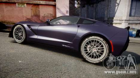 Chevrolet Corvette Z06 2015 TireMi4 para GTA 4 left