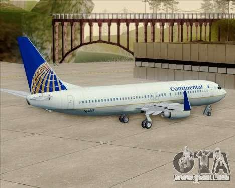 Boeing 737-800 Continental Airlines para visión interna GTA San Andreas