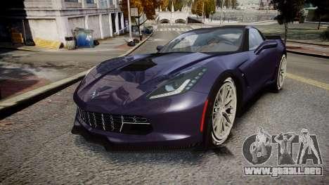 Chevrolet Corvette Z06 2015 TireMi4 para GTA 4