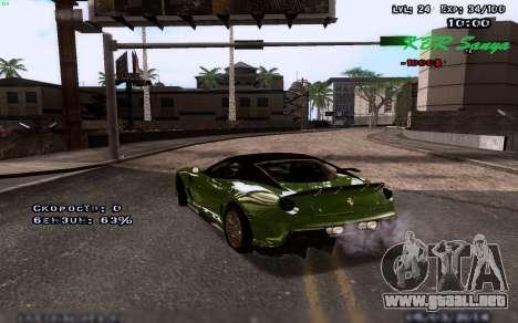 Gráficos mejorados por medio de equipos para GTA San Andreas segunda pantalla