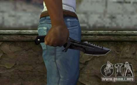 Knife from COD: Ghosts v2 para GTA San Andreas tercera pantalla