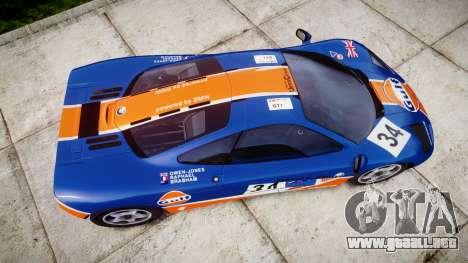 McLaren F1 1993 [EPM] Gulf 34 para GTA 4 visión correcta
