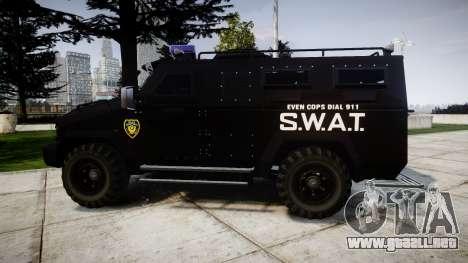 SWAT Van [ELS] para GTA 4 left