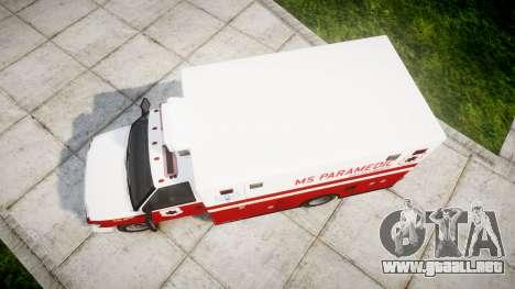 Brute V-240 Ambulance [ELS] para GTA 4 visión correcta