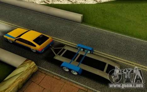 Trailer para GTA San Andreas vista posterior izquierda