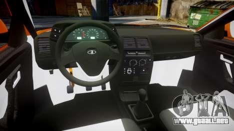 ВАЗ-2110 Bogdan rims1 para GTA 4 vista hacia atrás