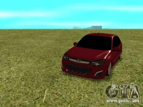 Lada Granta Kalina 2 para GTA San Andreas vista hacia atrás
