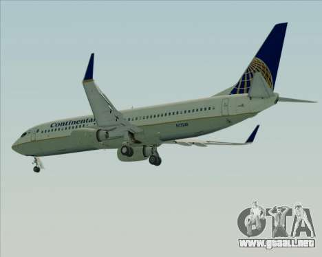 Boeing 737-800 Continental Airlines para vista lateral GTA San Andreas