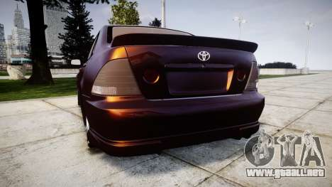 Toyota Altezza para GTA 4 Vista posterior izquierda