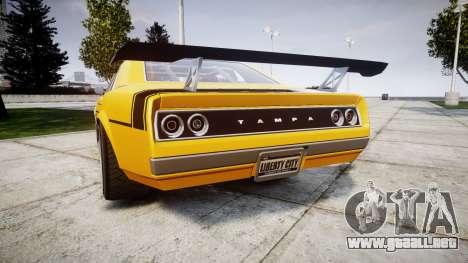 Declasse Tampa GT para GTA 4 Vista posterior izquierda
