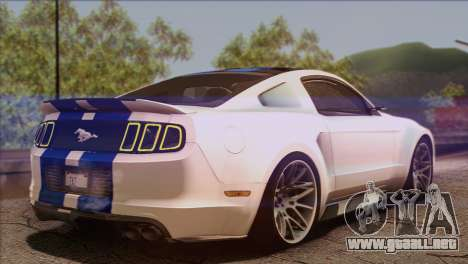 Ford Mustang GT 2012 para GTA San Andreas left