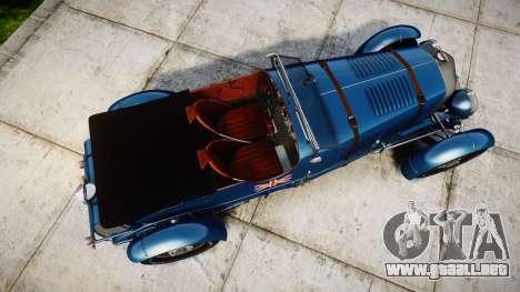 Bentley Blower 4.5 Litre Supercharged [high] para GTA 4 visión correcta