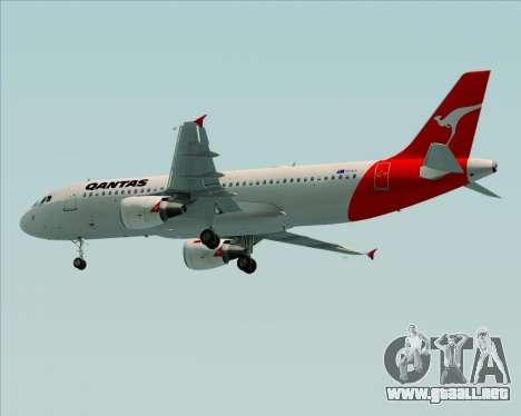 Airbus A320-200 Qantas para la visión correcta GTA San Andreas