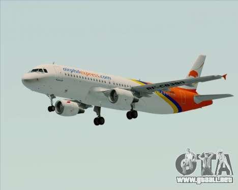 Airbus A320-200 Airphil Express para visión interna GTA San Andreas