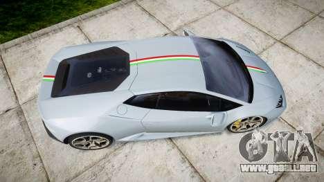 Lamborghini Huracan LP 610-4 2015 para GTA 4 visión correcta