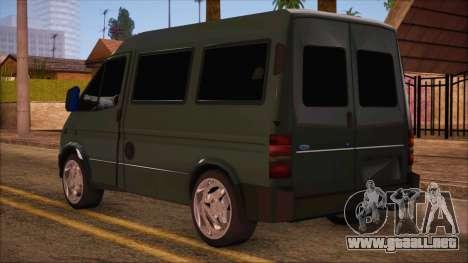 Ford Transit para GTA San Andreas left