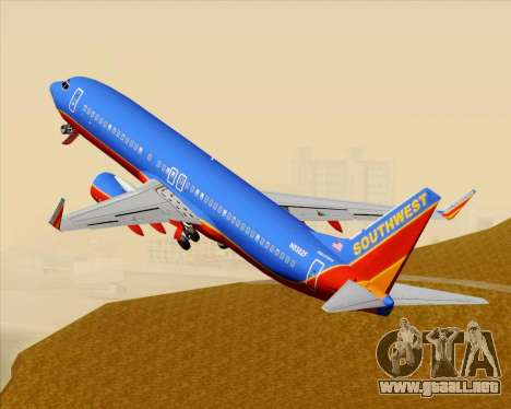 Boeing 737-800 Southwest Airlines para GTA San Andreas