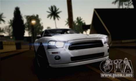 Bravado Buffalo 2nd Generation para GTA San Andreas vista posterior izquierda