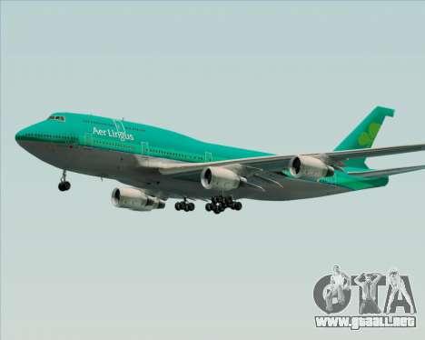 Boeing 747-400 Aer Lingus para la vista superior GTA San Andreas