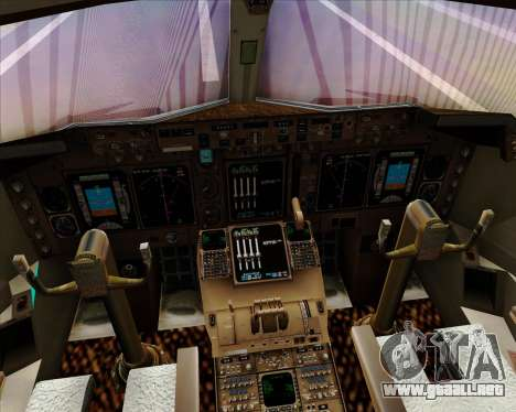 Boeing 747-400 Aer Lingus para GTA San Andreas interior