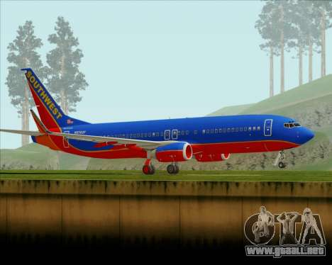 Boeing 737-800 Southwest Airlines para GTA San Andreas left