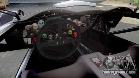Ariel Atom V8 2010 [RIV] v1.1 Bolton Touristic para GTA 4 vista interior