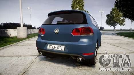 Volkswagen Golf GTI 2010 para GTA 4 Vista posterior izquierda