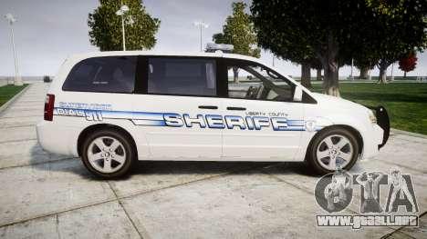 Dodge Grand Caravan [ELS] Liberty County Sheriff para GTA 4 left