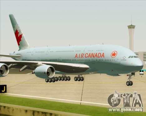 Airbus A380-800 Air Canada para vista lateral GTA San Andreas