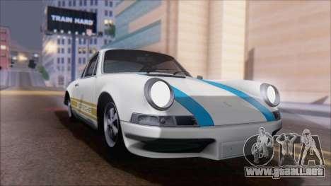 Porsche 911 Carrera 1973 Tunable KIT A para GTA San Andreas vista hacia atrás