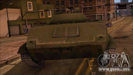 BMD-1 de ArmA armed Assault Estándar para GTA San Andreas vista posterior izquierda