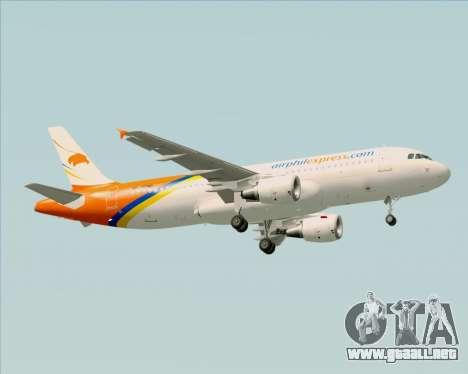 Airbus A320-200 Airphil Express para la visión correcta GTA San Andreas