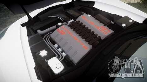 Chevrolet Corvette Z06 2015 TireGY para GTA 4 vista lateral