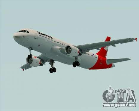 Airbus A320-200 Qantas para GTA San Andreas left