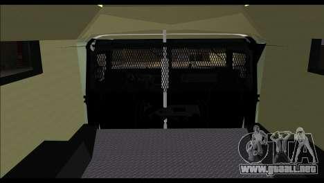 SWAT Enforcer para GTA San Andreas vista posterior izquierda