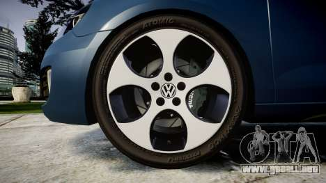 Volkswagen Golf GTI 2010 para GTA 4 vista hacia atrás