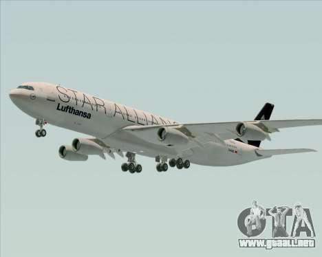 Airbus A340-300 Lufthansa (Star Alliance Livery) para las ruedas de GTA San Andreas