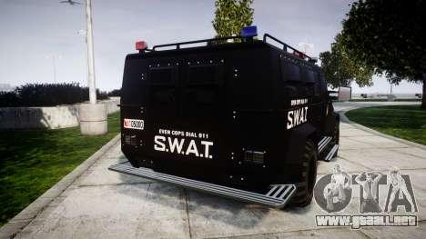 SWAT Van [ELS] para GTA 4 Vista posterior izquierda