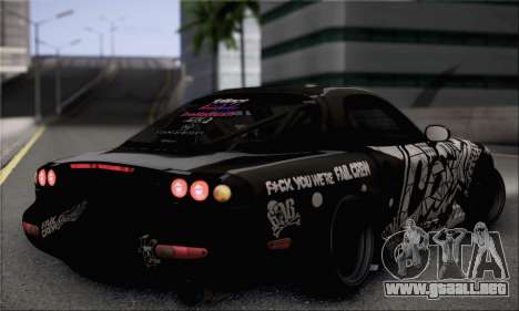 Mazda RX-7 Fail Crew para GTA San Andreas left