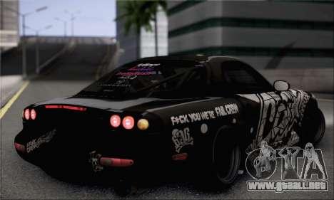 Mazda RX-7 Fail Crew para GTA San Andreas left