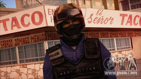GSG9 from Counter Strike Condition Zero para GTA San Andreas tercera pantalla