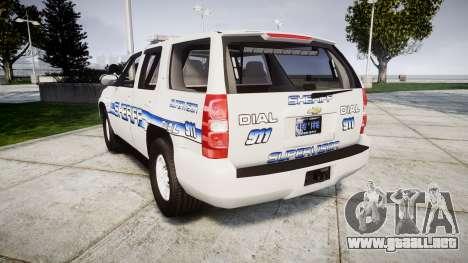 Chevrolet Tahoe [ELS] Liberty County Sheriff para GTA 4 Vista posterior izquierda