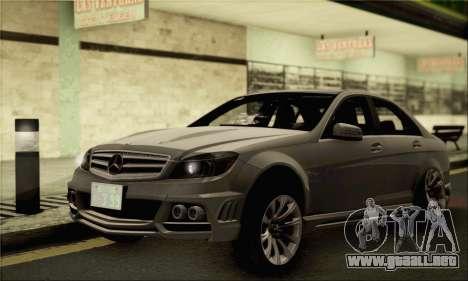 Mercedes-Benz C63 AMG para GTA San Andreas